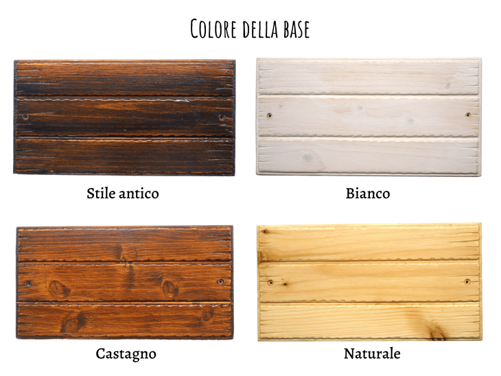 targa in legno personalizzabile nel colore