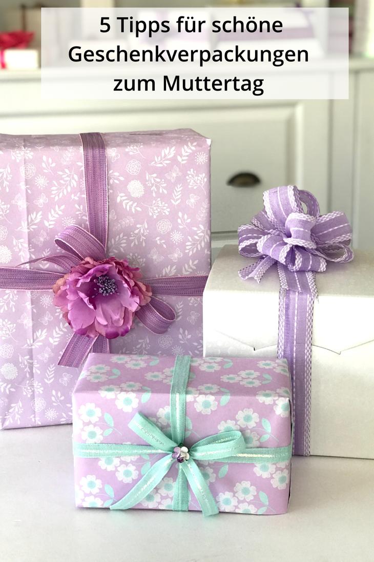 Muttertag Geschenke verpacken