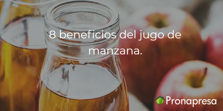 8 beneficios del jugo de manzana