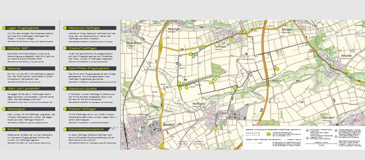 Faltblatt Gedenkpfad mit den 12 Stationen. Bild: Screenshot.*