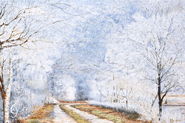 Winterzauber, 120x80 cm, Acryl auf Leinwand