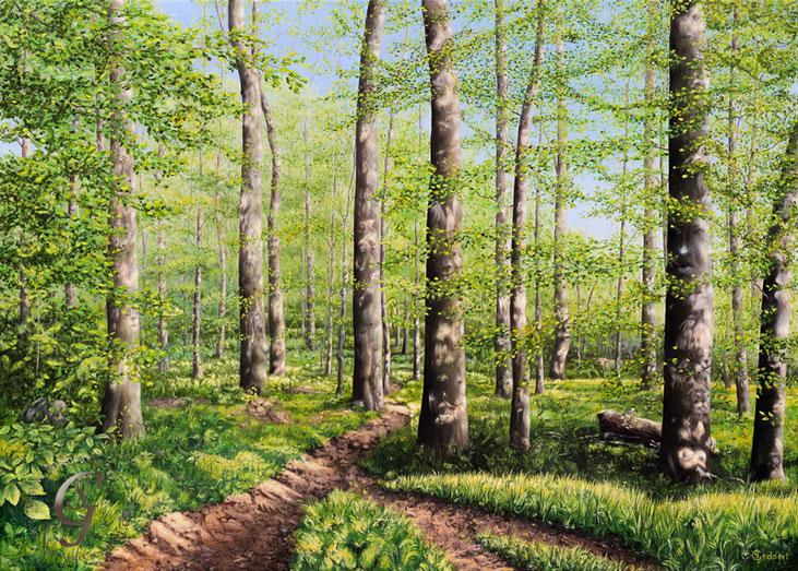 Frühlingserwachen, 140 x 100 cm, Öl auf Leinwand
