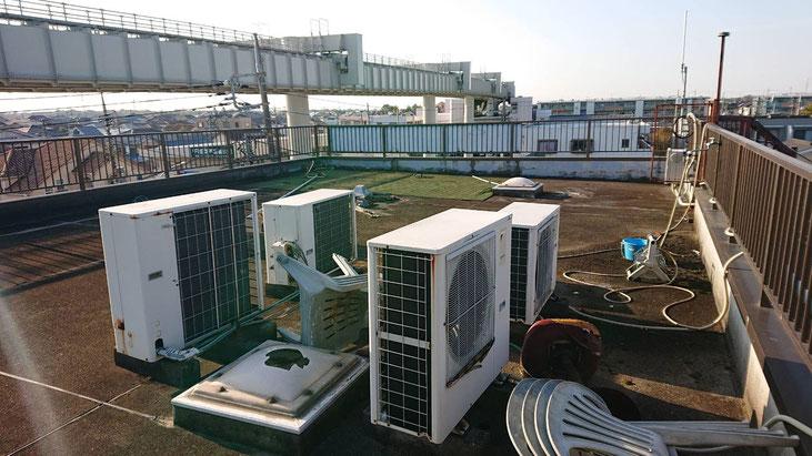 千葉市若葉区千城台北の屋上防水工事前