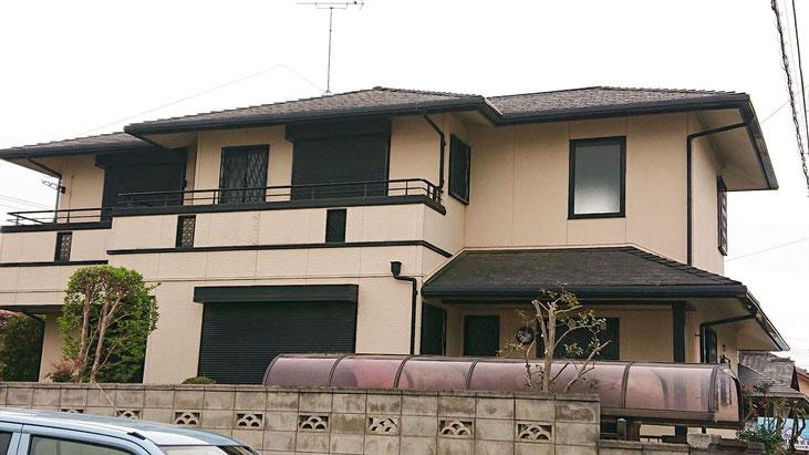 鎌ケ谷市東初富の屋根・外壁塗装工事 塗装前