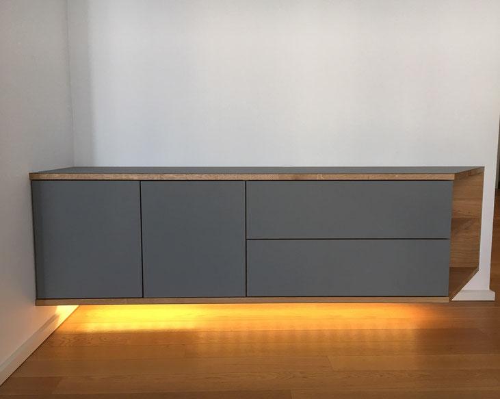 Lowboard, Holz, Beleuchtung, LED, Tischler, Möbel, Köln
