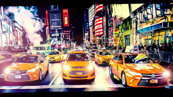 Taxi, Taxi - Limited Acrylglas Edition by Simon Knösel