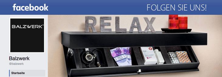 Folgen Sie uns auf Facebook! Balzwerk® - Hochwertige Hidden & Safe-Möbel mit Geheimfach - Made in Germany