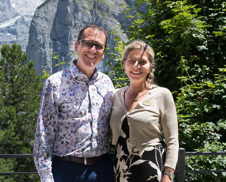 Adrian und Susanna Stähli von Allmen auf der Eiger-Sonnenterrasse