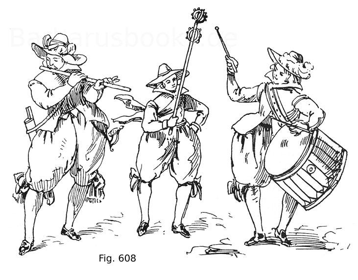 Fig. 608. Vollständiges Kompanie-Feldspiel aus Jacob Sutors künstlichem Fechtbuch, 1612.