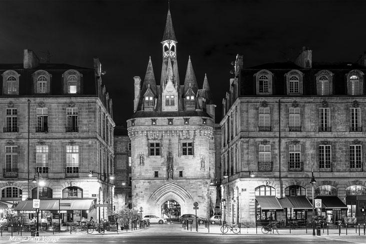 Bordeaux en noir et blanc