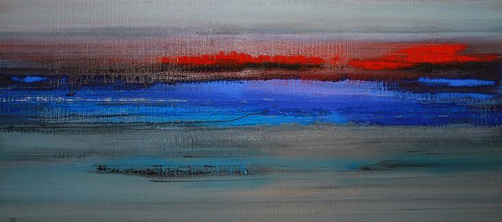 'Iceland Echo Series No I', Öl/Leinwand, 90 x 200 cm