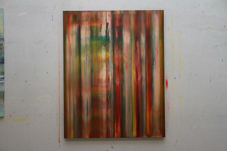 'Smoky', 2016, Öl/Holz, 143 x 112 x 6 cm