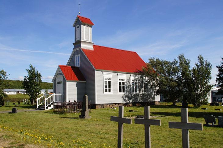 Auch nett: Die alte Kirche in Reykholt. Erbaut im 19. Jahrhundert.