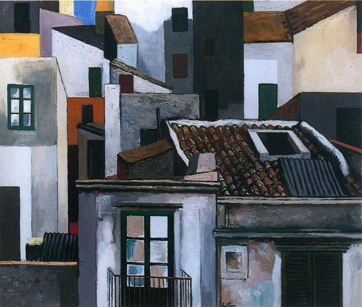 """Renato Guttuso, """"Case di Palermo"""" (1976)"""