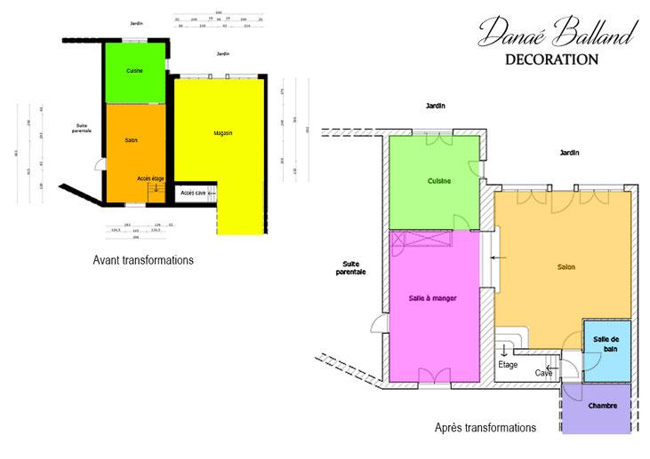 Rénovation séjour plan Danaé Balland décoration