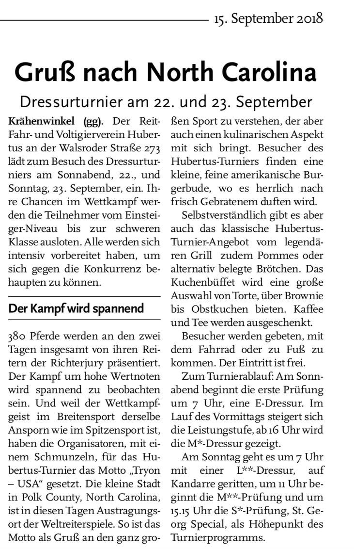 Quelle: Echo Langenhagen Ausgabe 15.09.2018