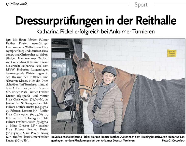 Echo Langenhagen, Ausgabe des 17.03.2018