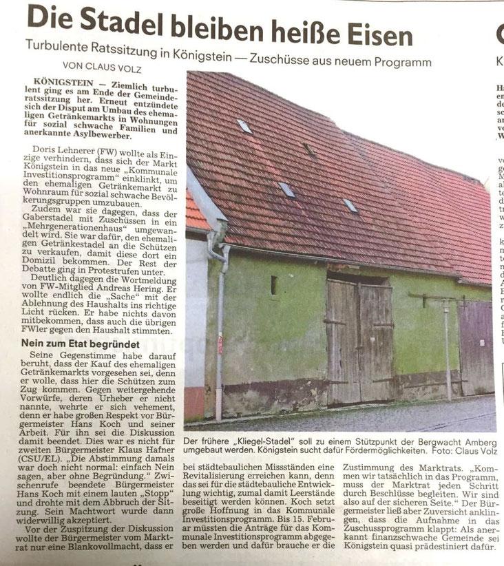 CSU Königstein Hirschbach Klaus Hafner Freie Wähler Andreas Hering