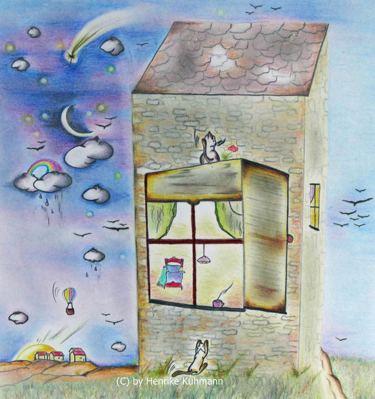Zeichnung für Kinderbuch, Illustration