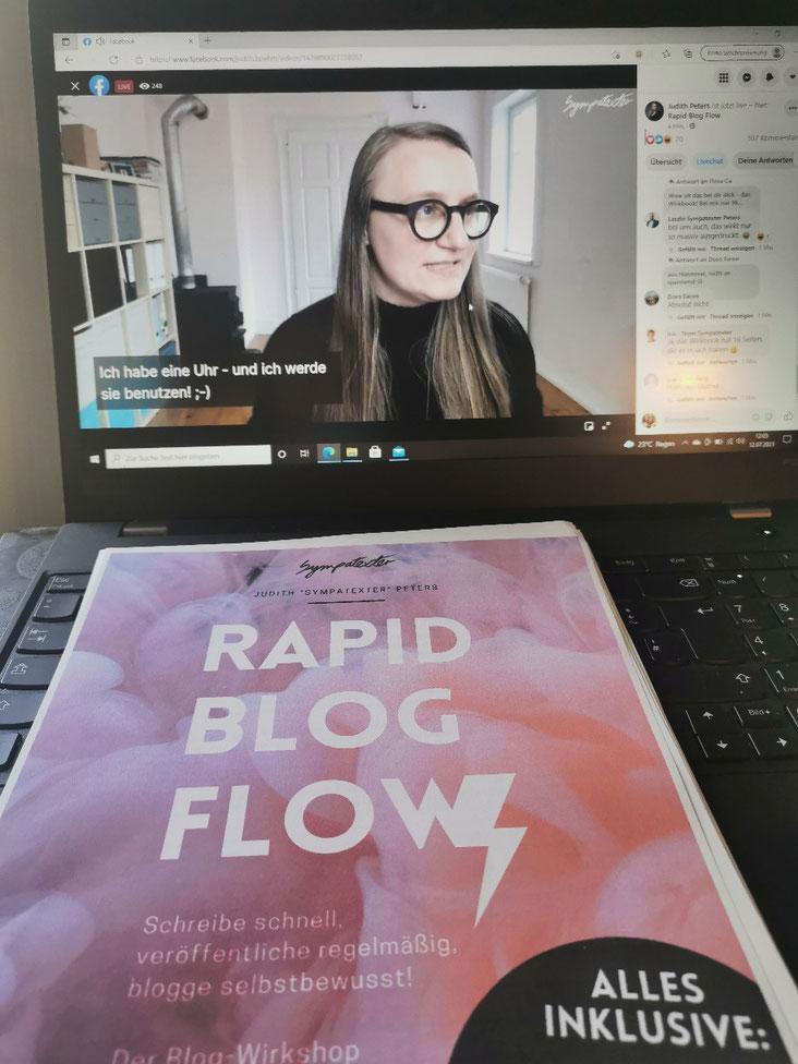 Weiter geht es mit dem ersten Live vom rapid Blog flow.
