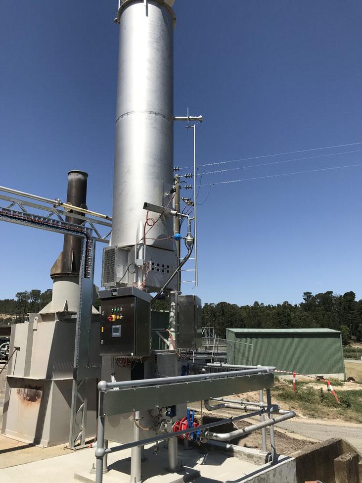 Antorchas para combustión de biogas - Quemadores - Aqualimpia Engineering - biogas flare