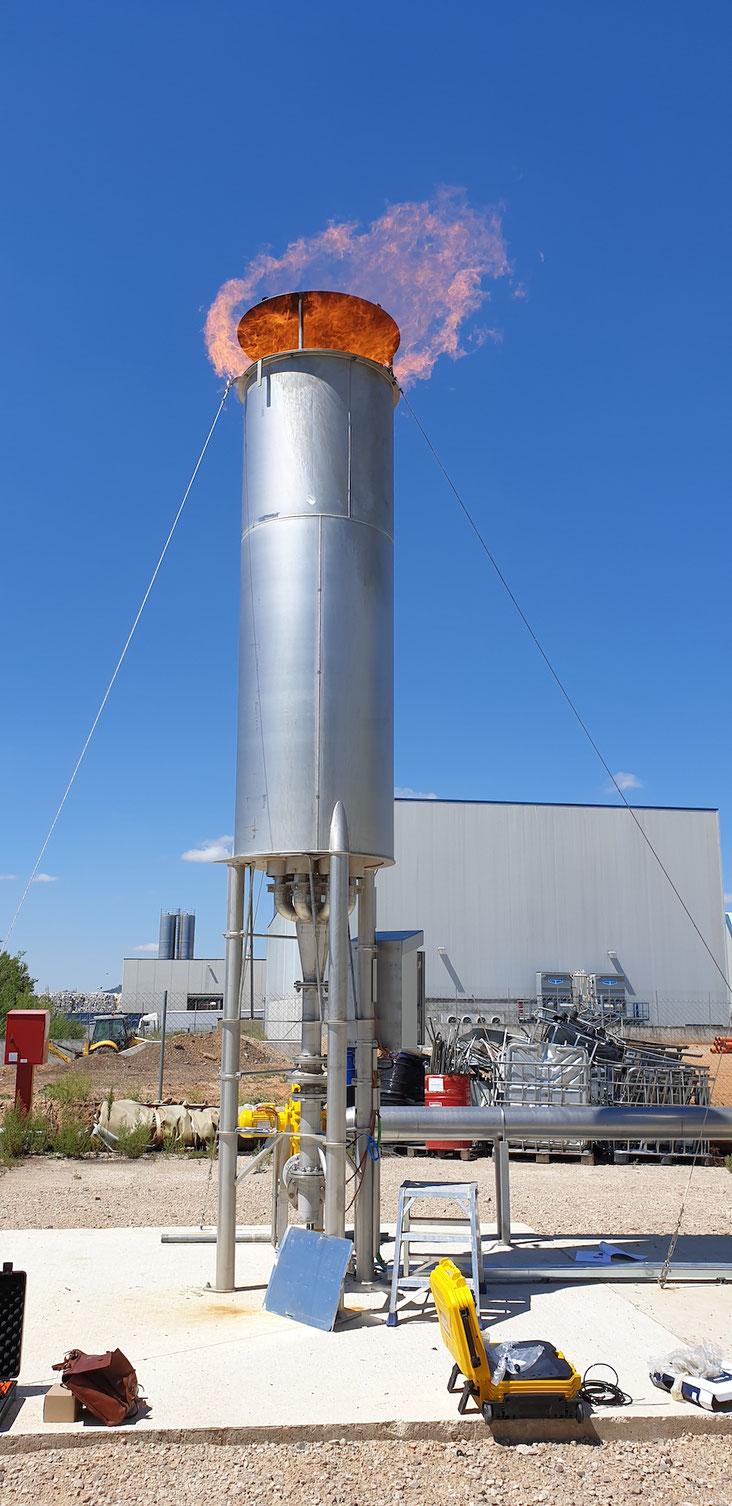 Biogas flare  - Aqualimpia - Antorcha para biogas