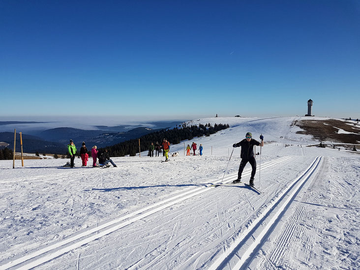 Perfect conditions on the Feldberg in the Black Forest.
