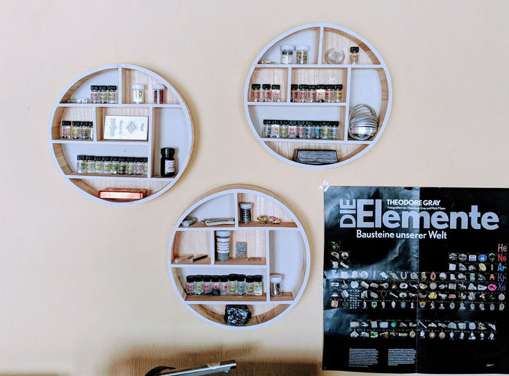 periodic table of elements display in creative way