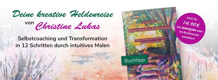Das Buch Deine kreative Heldenreise - Selbstcoaching und Transformation durch intuitives Malen von Christine Lukas ist im Telescope Verlag erschienen.