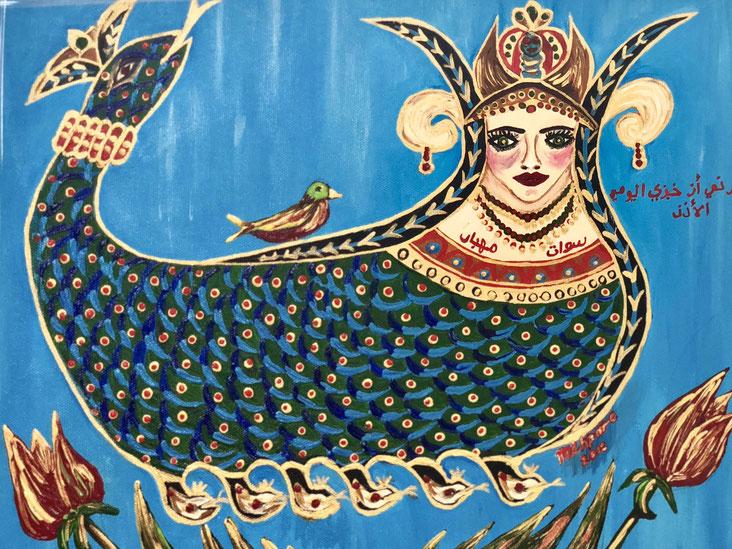 Şahmeran, la regina dei serpenti, metà donna e metà serpente - Mardin