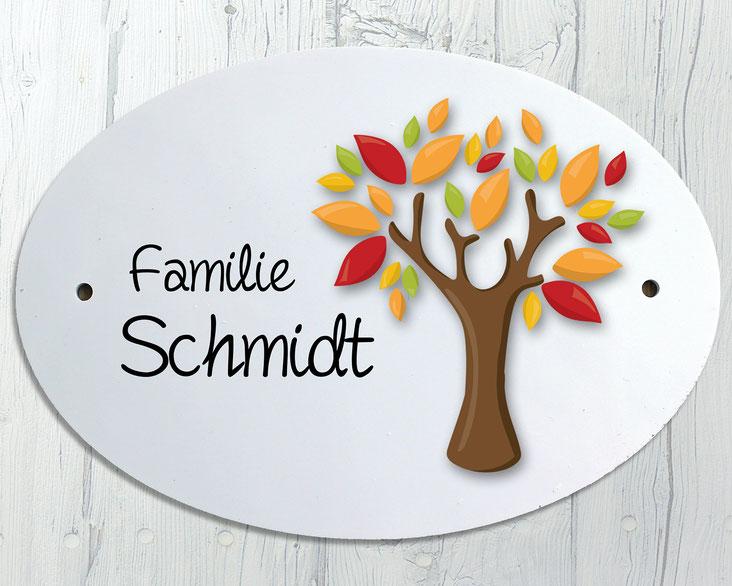 Türschild Baum Herbst Geschenk Umzug