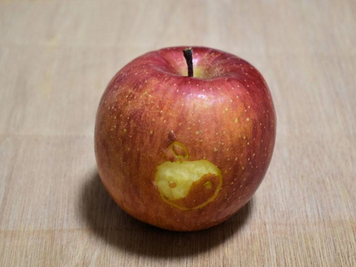 撮影後、林檎は青木が美味しくいただきました。