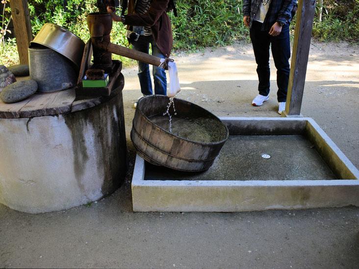 井戸 やってないです。ポンプ押して水出したり、やってないです。