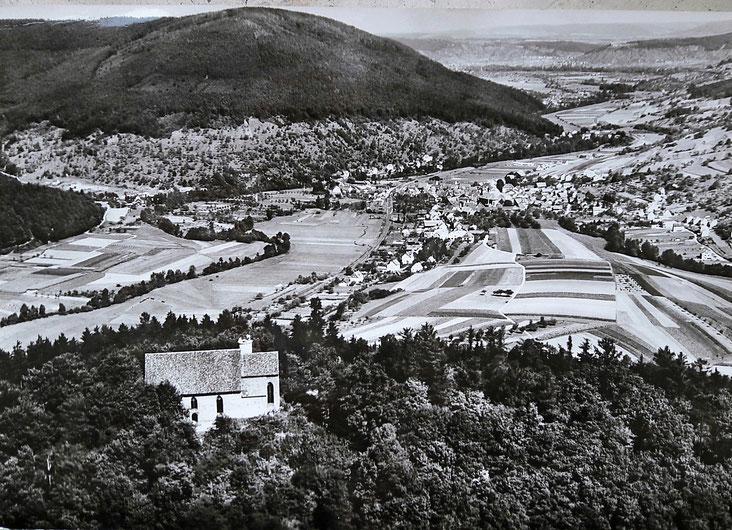 Blick auf Weilbach vom Gotthardsberg