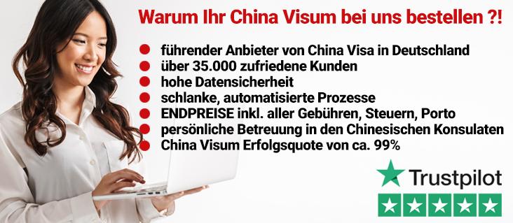 China Visa Service 5 Sterne Service. Ausgezeichnet. China Visum Marktführer !