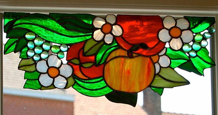 Panneau aux fruits en Tiffany
