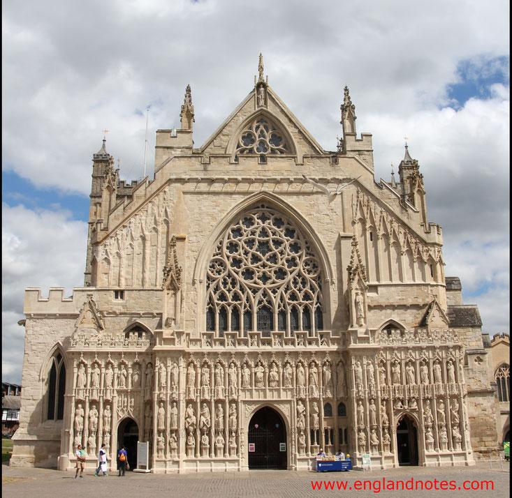 Sehenswürdigkeiten und Reisetipps Exeter, England: Kathedrale von Exeter