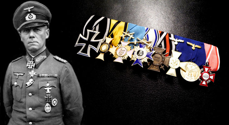 Replica of the medal bar of Erwin Rommel