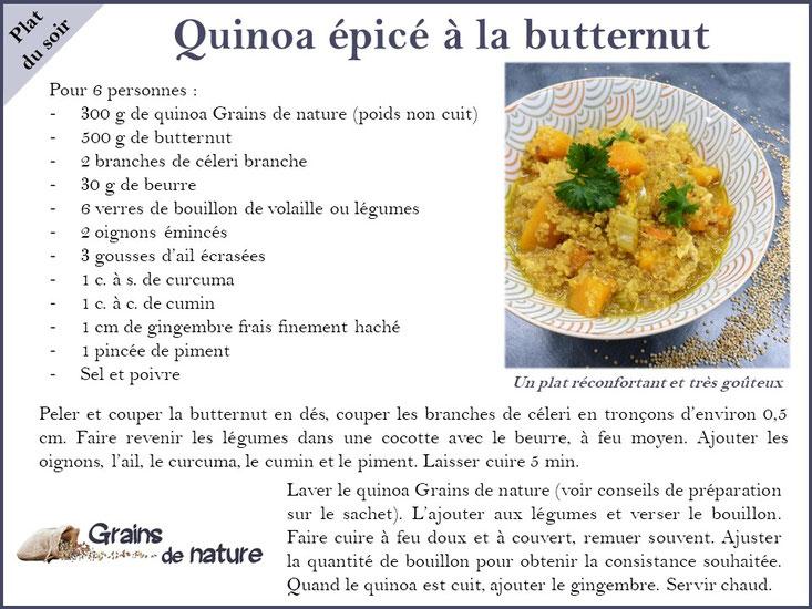 Quinoa Grains de nature produit dans l'Aube et ses épices pour un dîner chaleureux