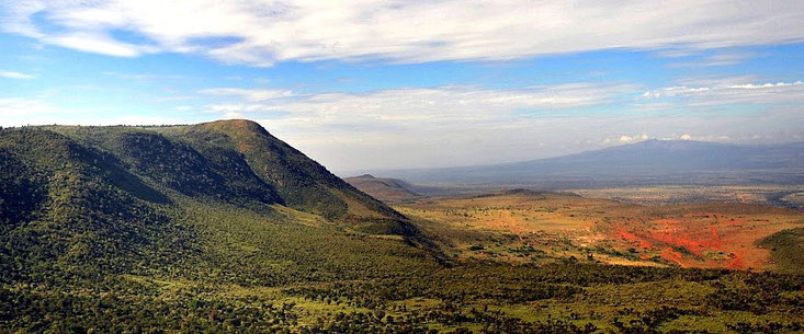 Scarpate del Kenya. The Great Rift Valley