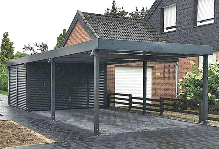 carports aus lippe carport garage in holz stahl alu. Black Bedroom Furniture Sets. Home Design Ideas