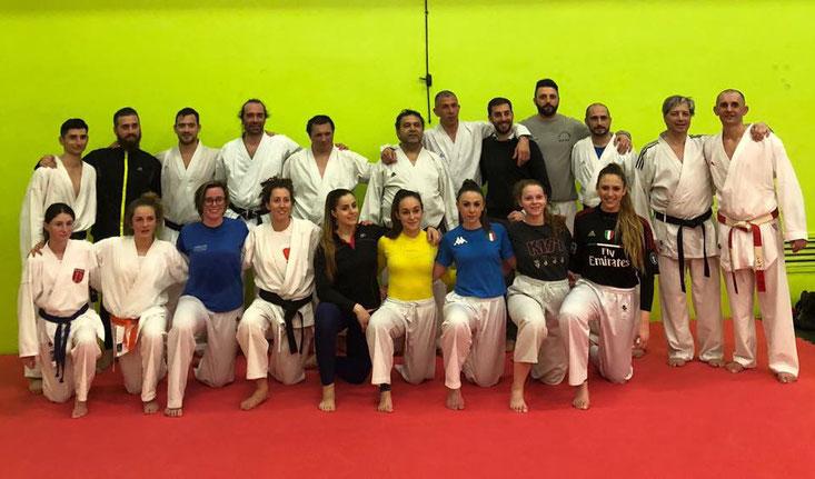 Echange avec le judo karaté club de Milan club de Massimilliano FERRARINI