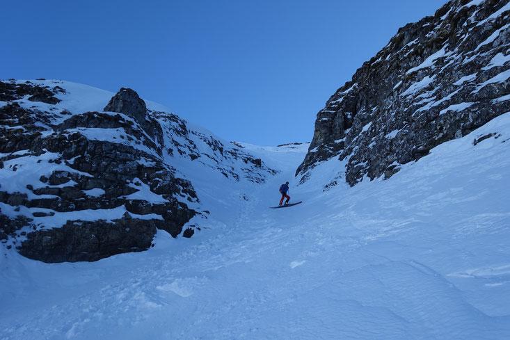 Mieserenstock, Skitour, Couloir, Studen, Schwyz, Schweiz, Touren Zentralschweiz