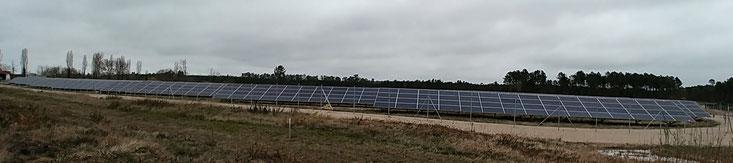 Exemple parmi d'autres centrales photovoltaïques, ici en Gironde. Les projets d'ENGIE à Saucats en Gironde et Martignas en Jalle en sont des exemples.