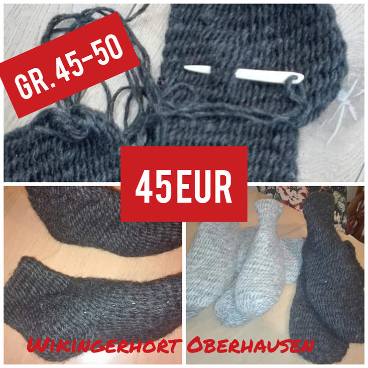nadelgebundene Socken schuhgröße 45-50