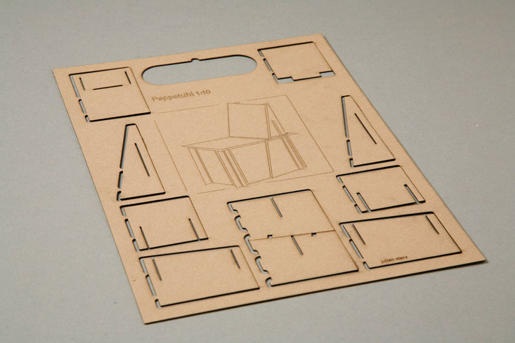 cardboard chair assembly kit, Pappstuhl Bausatz