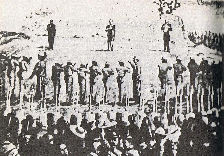 Foto dell'Esecuzione di Massimiliano 19 giugno 1867 in wikipedia
