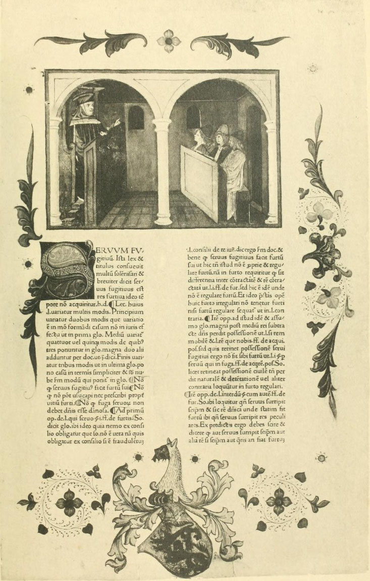 Bartolus de Saxoferrato. Venetiis, 1471.