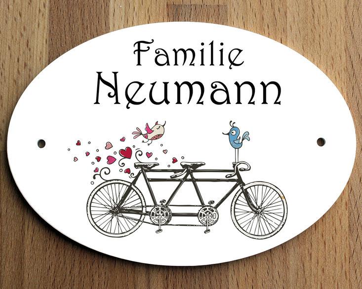 Türschild Fahrrad Geschenk Umzug