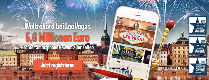 LeoVegas hält den größten Gewinn, der über das Smartphone gewonnen wurde